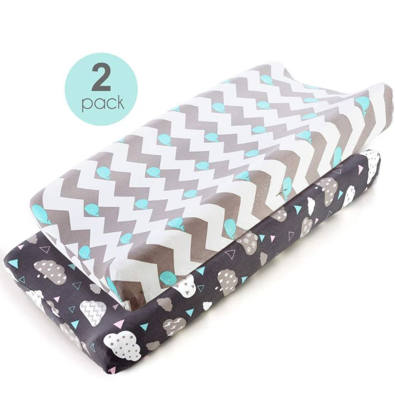 Wedge Baby Changing Mat Cradle Sheet Changing Pad Cover Set Ultra Soft Stretchy Fitted Change Pad Covers for Boys or Girls
