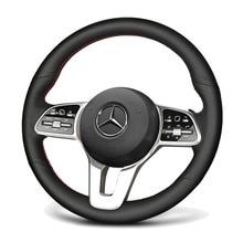 Haut en cuir et trou en cuir volant main couture housse pour Mercedes Benz A classe 19-20 GLC GLB 2020 CLS 18-20