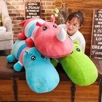 80 120cm giant hippo rhinoceros crocodile plush dolls stuffed soft down cotton animal pillow cute toy birthday christmas gift