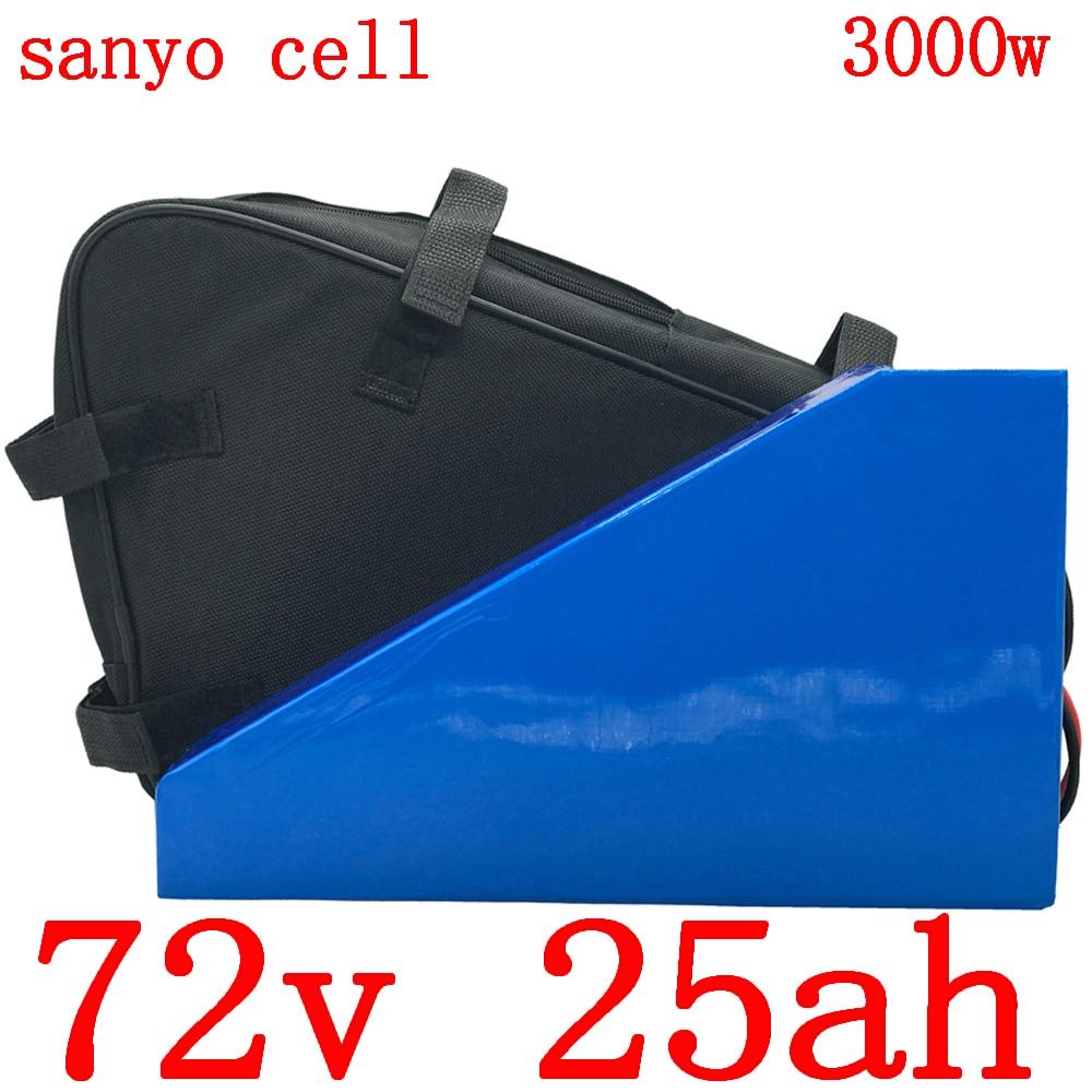 72V 25AH Ebike batería 72V 2000W 3000W batería de Scooter eléctrica 72V 25AH 20AH 18AH 14AH batería de litio utiliza célula sanyo(GA)