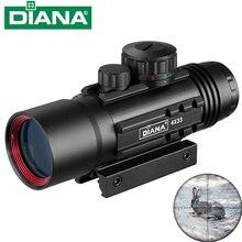 Mira telescópica iluminada DIANA 4X33 Tactical Red & Green Cross, mira óptica de caza para riel de 11/20mm