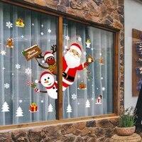 Autocollants muraux de noel en vinyle PVC  decorations de grandes tailles pour la maison  pour la saison du nouvel an et du pere Noel  a la mode
