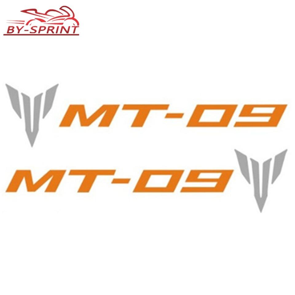 2 pegatinas con emblema Universal para decoración de motocicleta para YAMAHA MT-09 MT09 mt-09