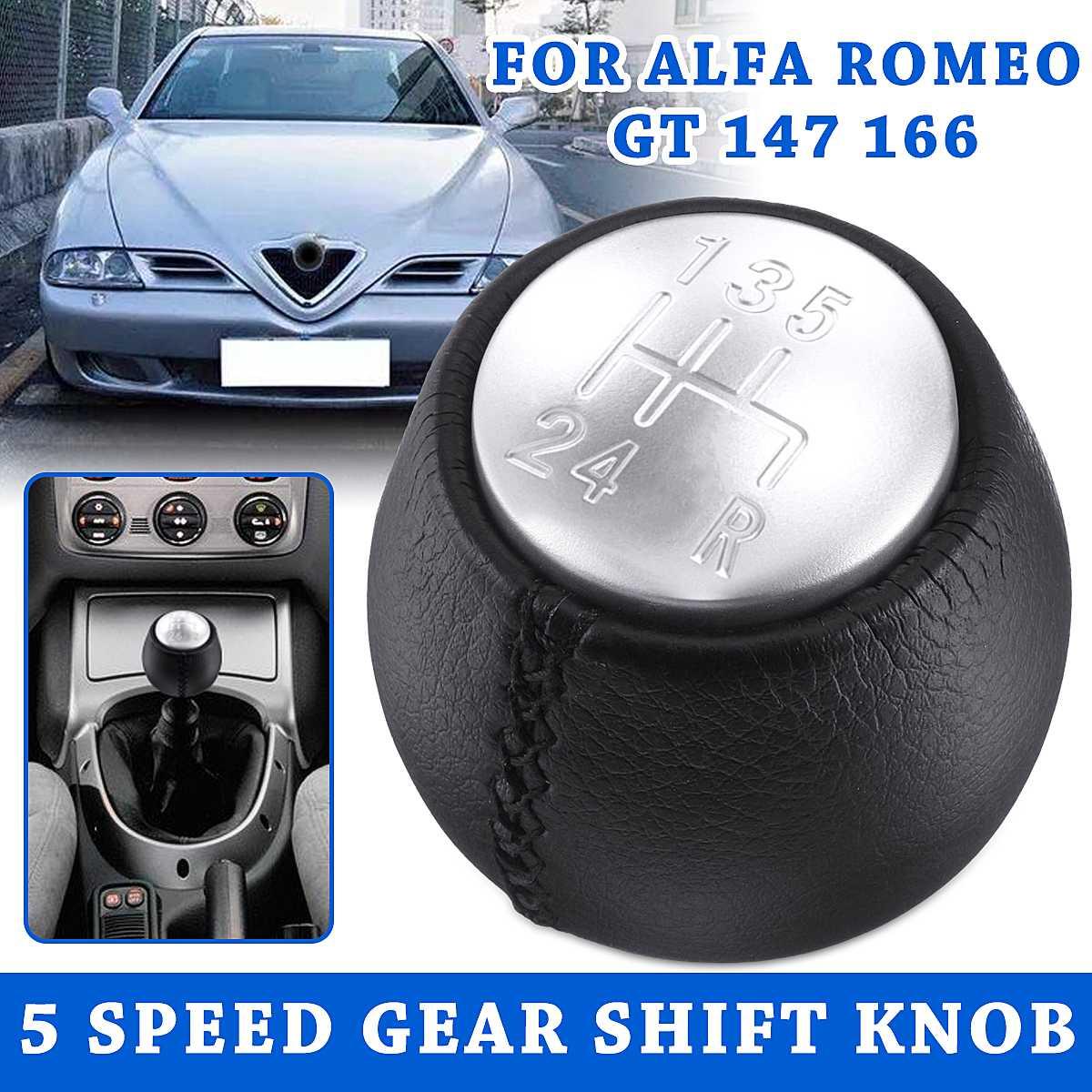 5 скоростей Автомобильная рукоятка для рычага переключения передач ручка переключения передач ручной шар из искусственной кожи для Alfa/Romeo GT 147 166 3,2 V6