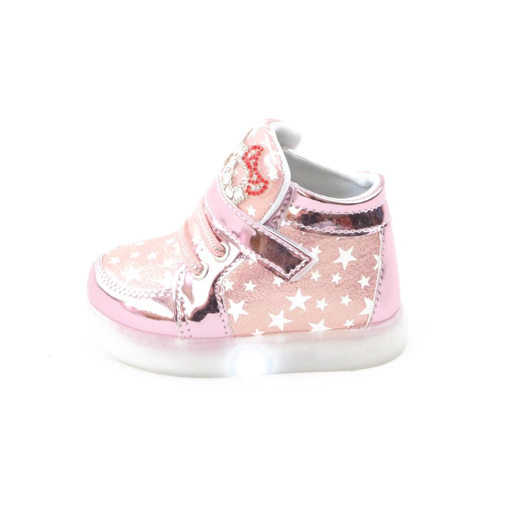 Zapatos para niños luces LED Zapatos Niños antideslizantes moda Zapatillas size21-30 primavera 2017 gran oferta chicas lindo gato KT caricatura
