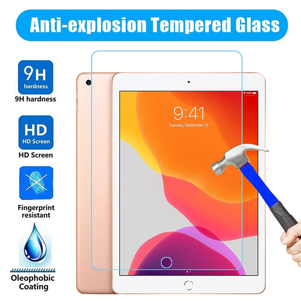 2 pçs vidro temperado para apple ipad ar 2 1 9.7 pro 11 10.5 10.2 protetor de tela 9 h película protetora para ipad ar 10.5 mini 3 4 5