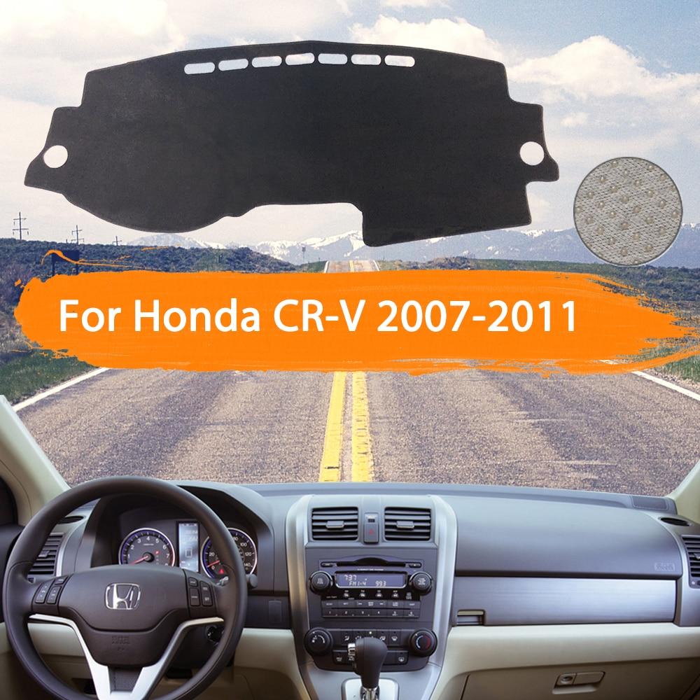 Dashmat de la cubierta del salpicadero del coche para Honda CR-V RE1 ~ RE5 RE7 2007 ~ 2011 parasol interior del coche tablero del tablero de la alfombra estilo del coche 2008