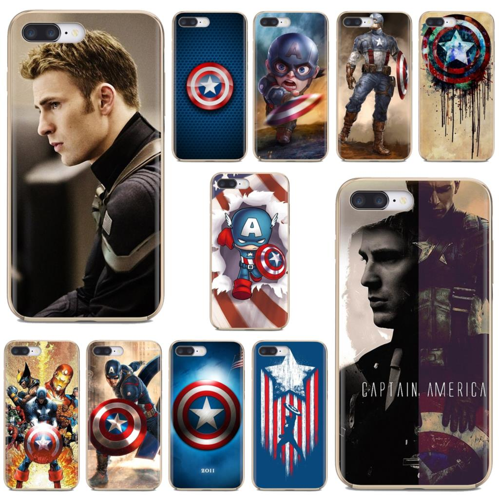 For Samsung Galaxy A10 A30 A40 A50 A60 A70 S6 Active Note 10 Plus Edge M30 Chris Evans Captain America Shield Soft Silicone Case