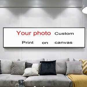 Hotel  Bedside Painting  Custom Canvas Painting Poster and Wedding Photo Personal  Printing Family Wall Art Pictures for Livingr