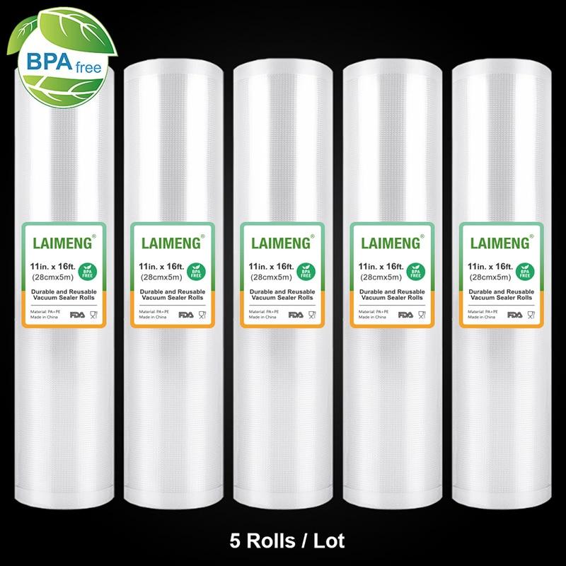 LAIMENG 5 Rolls Sous Vide Roll Bags For Vacuum Packing Machine Packaging Food Storage Vacuum Bags for Vacuum Sealer R129