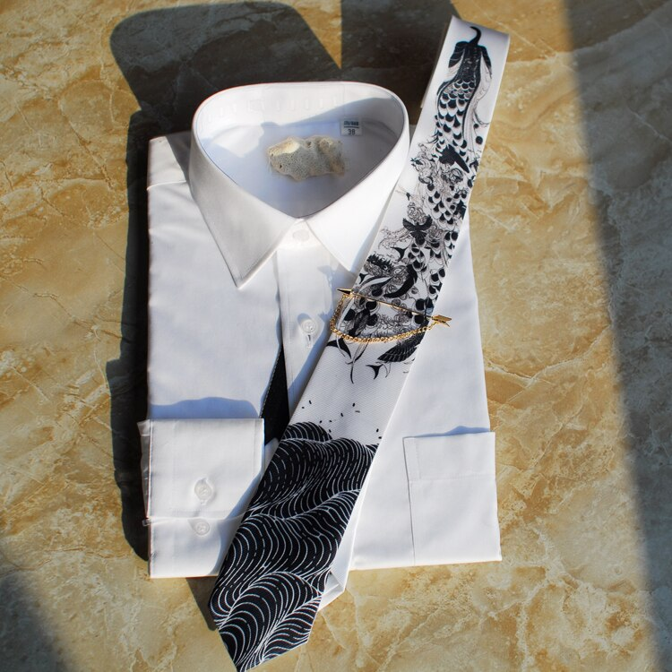 Free shipping fashion casual Men's male woman necktie Poseidon Series 5 Unique Ties Get Married Hosting Western Europe Party TIE
