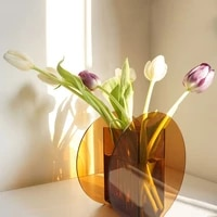ins geometric display acrylic vase home art design homestay soft decoration model room matching