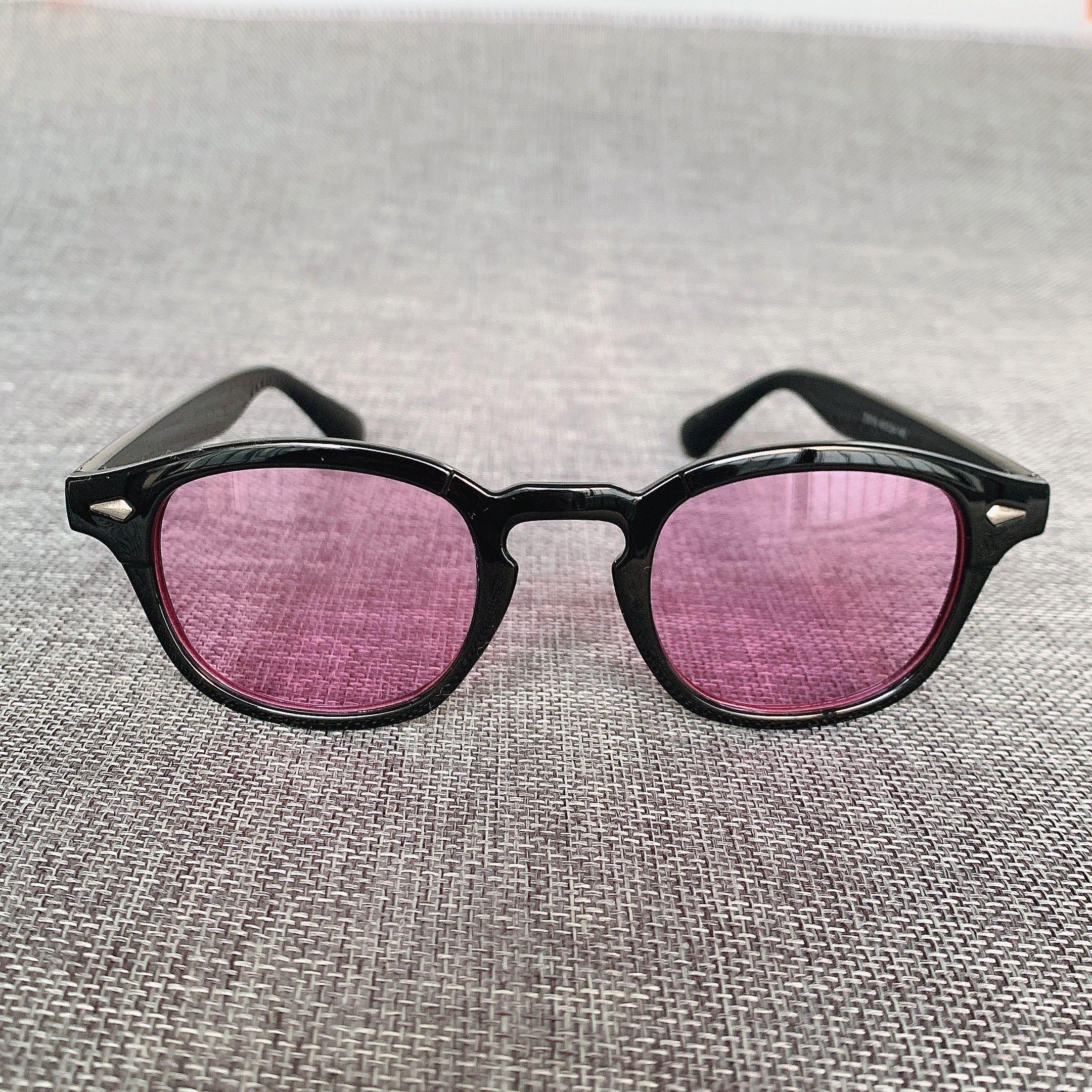 Маленькие круглые солнцезащитные очки Johnny Depp для мужчин и женщин, брендовые дизайнерские вечерние очки с прозрачными затемненными линзами