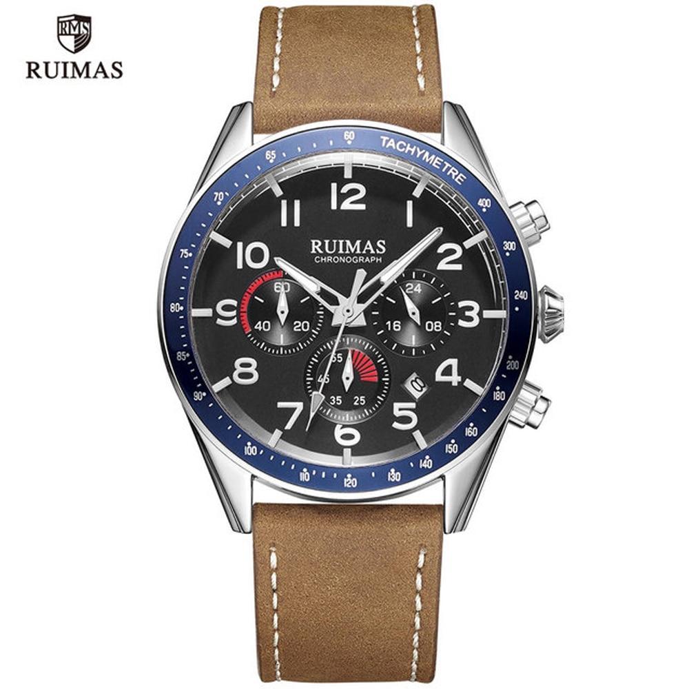 RUIMAS Minimalist Mens Fashion Casual Watches for Men Business Clock Male Leather Belt Simple Quartz