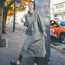 Big Goods Now Autumn New Large Pocket Trench Coat ZB