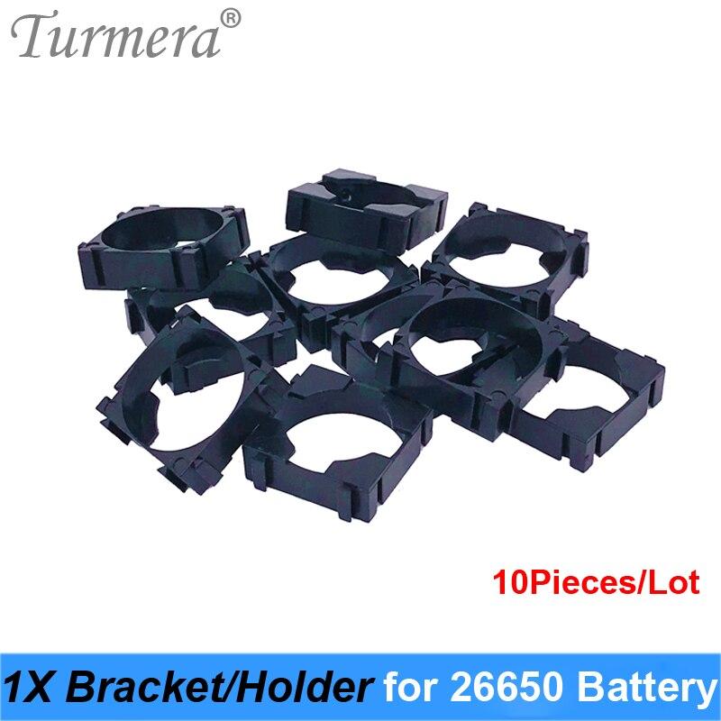 Turmera 26650 1x soporte Triple de la batería de litio para el paquete de batería Diy de alta calidad para el paquete de baterías 26650 uso 10 unids/lote