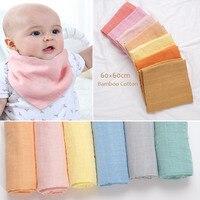 Муслиновое детское одеяло из бамбука и хлопка, 60 х60