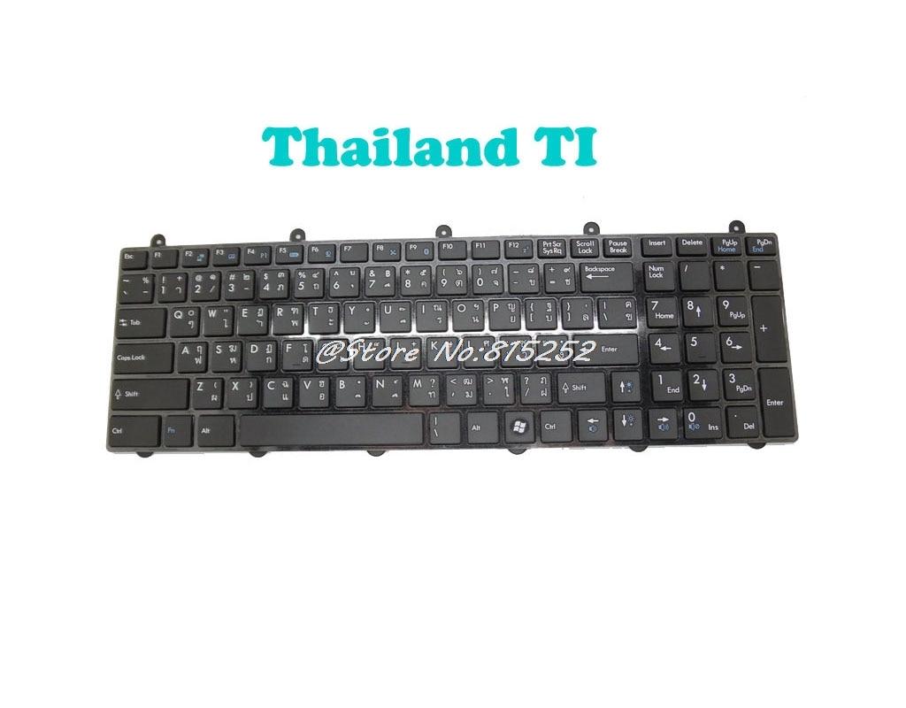 PO FS SW teclado para MSI GT780 negro V123322BK1 TI Tailandia S1N-3ETH241-SA0 CH S1N-3ETC241-SA0 Reino Unido S1N-3EUK281-SA0 TW nos inglés
