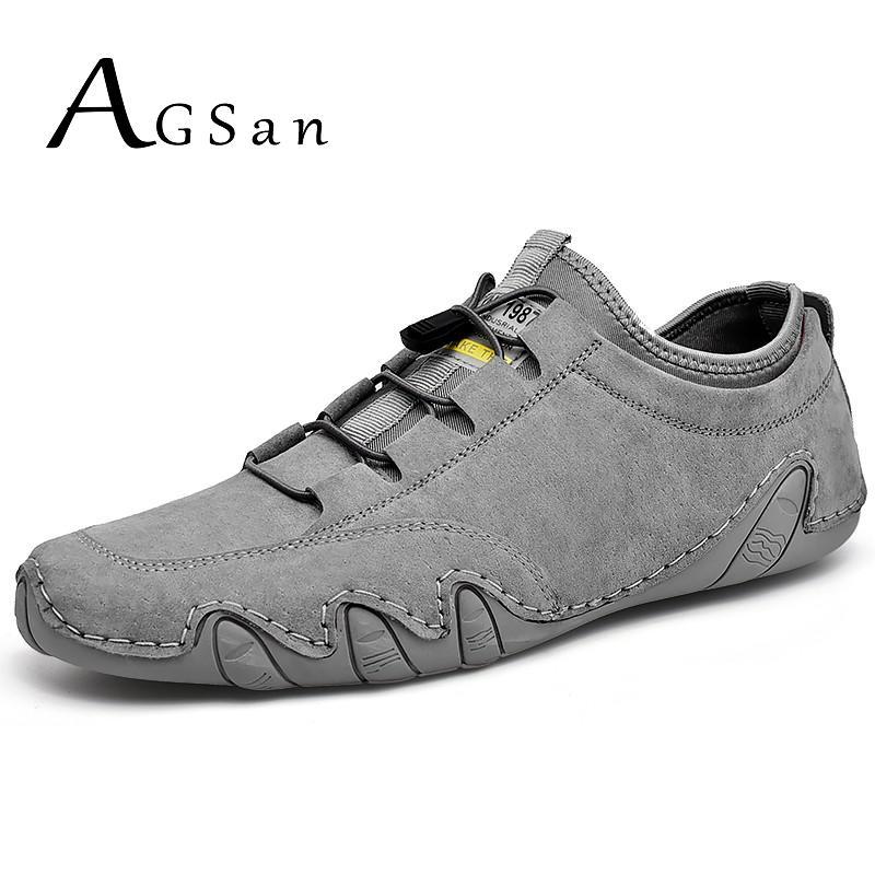 حذاء رجالي حذاء كاجوال من الجلد تنفس أحذية قيادة الأخفاف حجم كبير 48 47 في الهواء الطلق الشقق Krasovki الايطالية مكتب أحذية رجل