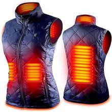 Women Heating Vest Autumn and Winter Cotton Vest USB Infrared Electric Heating suit Women Flexible T