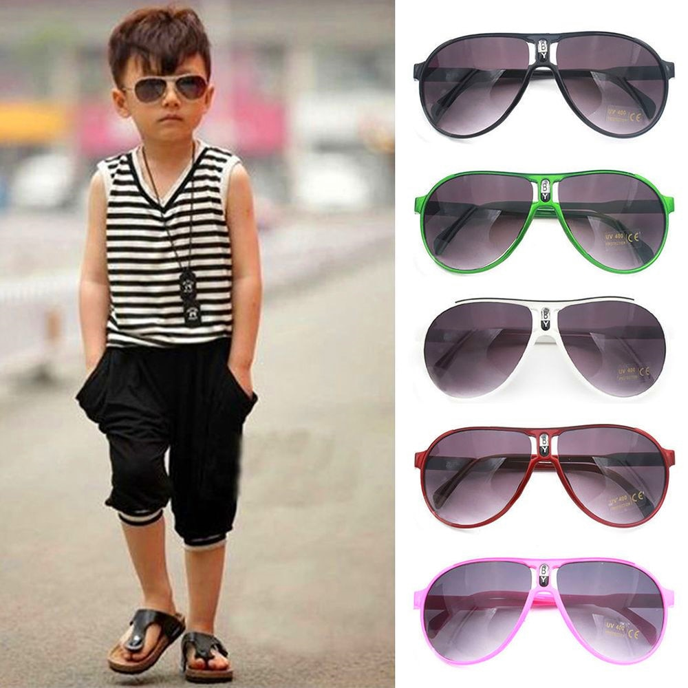 Anti-UV Kids Sunglasses Children Colorful Mirror Flexible Safety Frame Shades Baby Goggles Glasses O