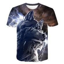 3D Drucken Tier T-Shirt Sommer Mode 3D Männer tshirt Tops Oansatz Kurzarm Wolf T-Shirt Plus Größe