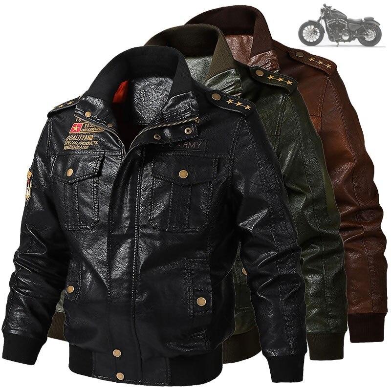 Мужская классическая мотоциклетная куртка, зимняя Толстая кожаная куртка, новинка 2021, Мужская мотоциклетная осенняя куртка на молнии
