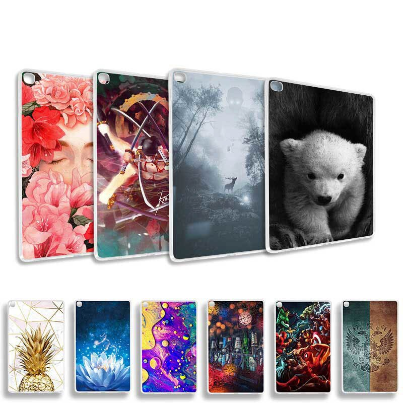 Fundas pintadas de moda para Xiaomi mi Pad 4 8,0 1 2 7,9 Funda silicona suave con un dibujo animado animales Fundas protectoras carcasa Funda