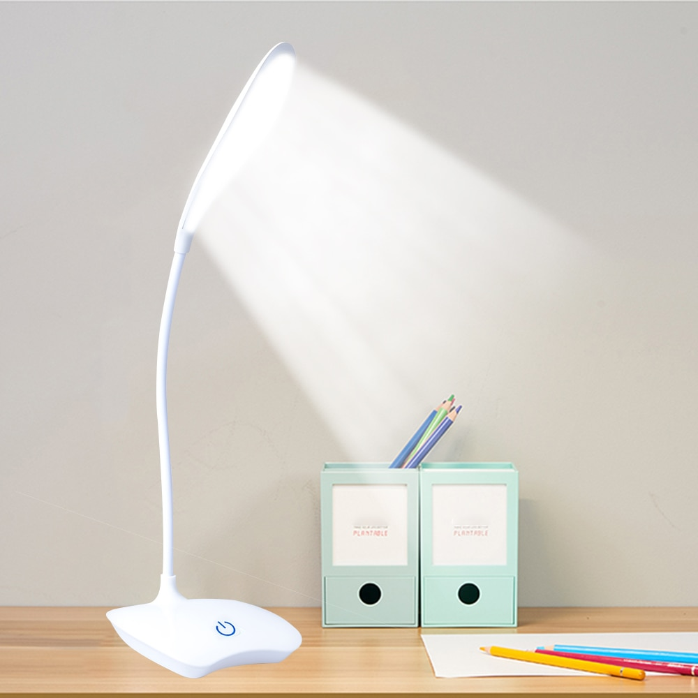 Office Bright Table Lamp Rechargeable Battery LED Stand Kids Desk Lamp Table Top Lanterns For Student Study Reading Book Lights