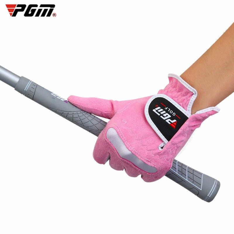 Pgm esportes ao ar livre luvas de golfe de alta qualidade pgm marca feminina super fibra pano elástico respirável senhora 1 par 4 cores