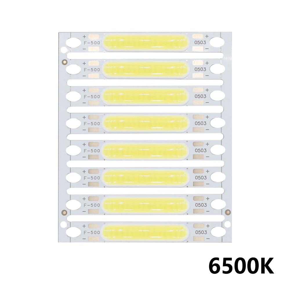 8 Uds 1W 3W 5W 300mA COB luz LED Chip 3V 9V 11V 15V 17V para la linterna lámparas de pared luces LED tubo DIY
