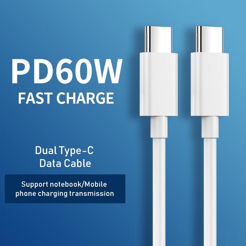 CtoC-cable de carga rápida pd tipo C a USB C, Cable de...