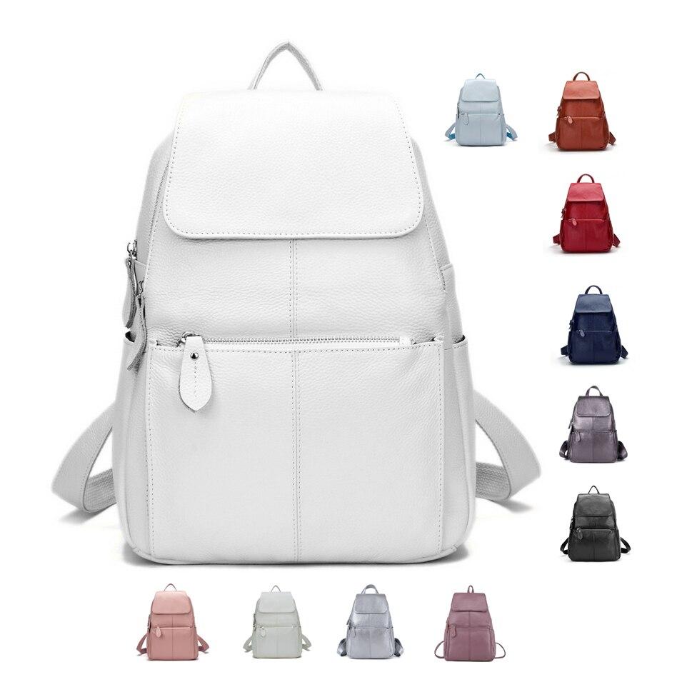 ZENCY 2020 хороший рюкзак, 100% Мягкая натуральная коровья кожа, Воловья кожа, Женский верхний слой, коровья кожа, школьные сумки для книг, ранец