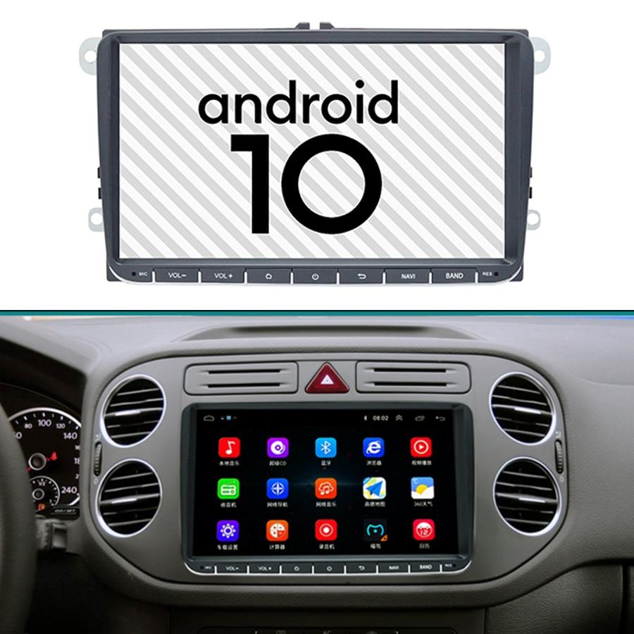 Gps Android 10,0 para VW Volkswagen Golf Polo Tiguan Passat B7 B6 SEAT Leon Skoda Yeti, Octavia reproductor Multimedia 2 Din Radio de coche