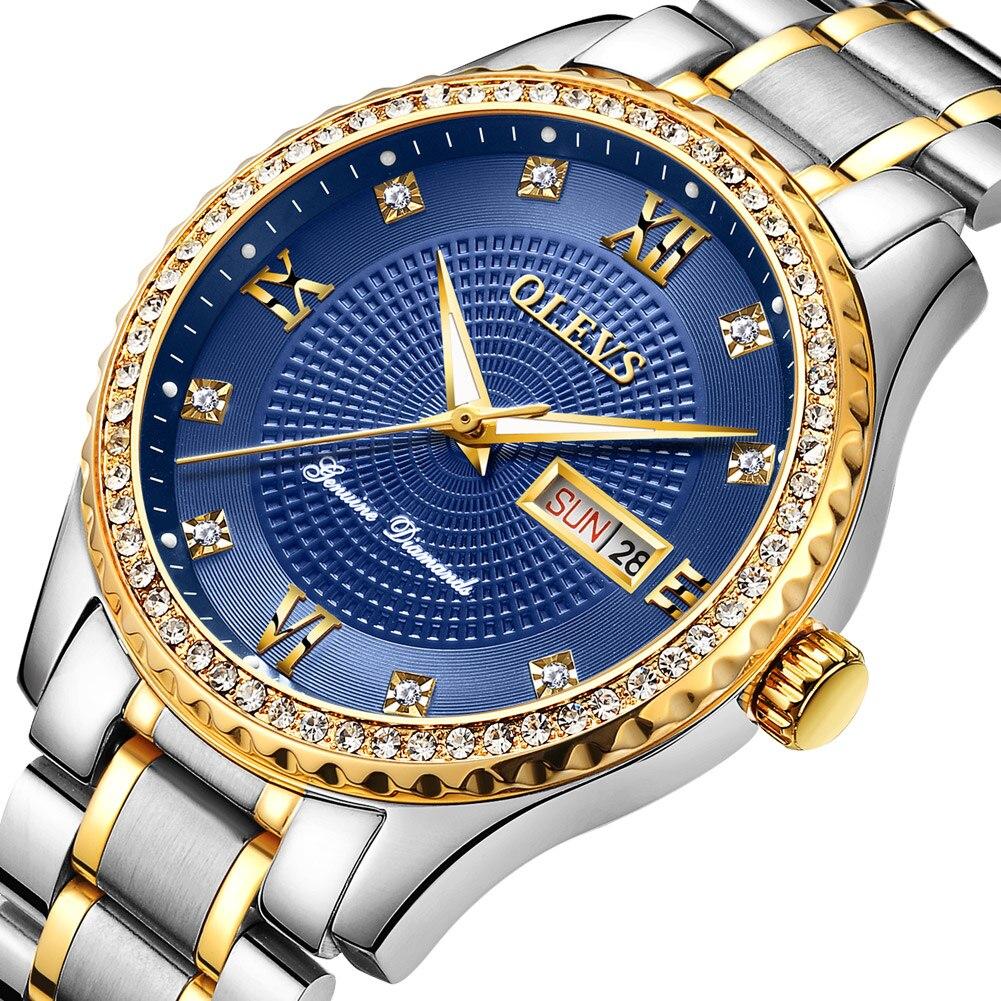 Relógio de Pulso de Quartzo Luminoso para Relógio Produtos de Tendência Olevs Relógios Masculinos Diamante Luxo Japão Masculino Superior Vidro Ímã