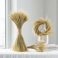 100pcs wheat natural dried flowers bouquet artificial plants branch ins pampas grass fake flower wedding home garden decoration