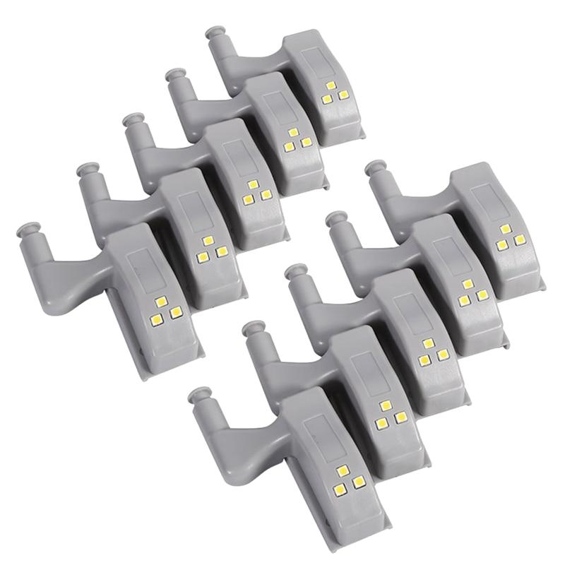 10 Uds. Armario de Sensor de luz LED con bisagra para cocina, armario, luces de noche, sala de estar/dormitorio/luces de noche de armario