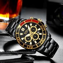 Biden Pilot Horloge Sport Mannen Horloges 2020 Luxe Top Brand Quartz Horloge Stalen Band Mannelijke Klok Часы Мужские Спортивные Nieuwe