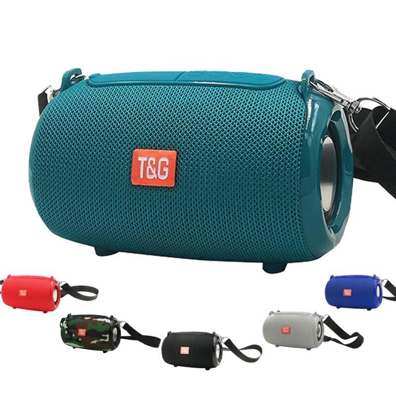 Tg533 alto-falante bluetooth portátil rádio fm coluna sem fio à prova dwaterproof água caixa ao ar livre alto-falante powful para tablets telefone