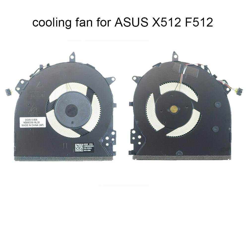 الكمبيوتر وحدة المعالجة المركزية مراوح التبريد ل ASUS VivoBook X512 دا X512UA X512UF F512U 13NB0KA0AM0811 NS85C05-18L30 كمبيوتر محمول برودة المبرد مروحة
