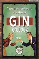 gin oclock sign gin sign metal wall sign retro style tin sign gin lovers gift kitchen decor gin and tonic sign gi