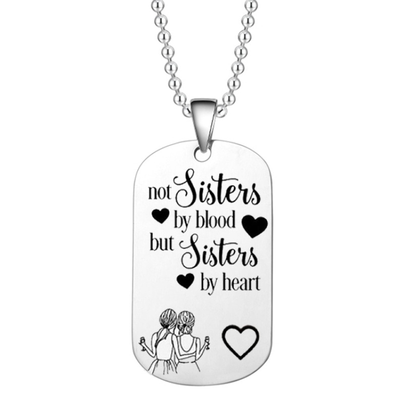 Лучший брелок лучшему другу, ожерелье Bff, не сестры по крови, но сестры по сердцу брелок ожерелье для сестер, лучший друг подарок