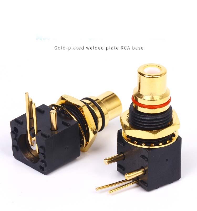20 قطعة عالية الجودة من النحاس المطلي بالذهب RCA محطة أنثى جاك لوحة Mout الهيكل الصوت PCB موصل مقبس
