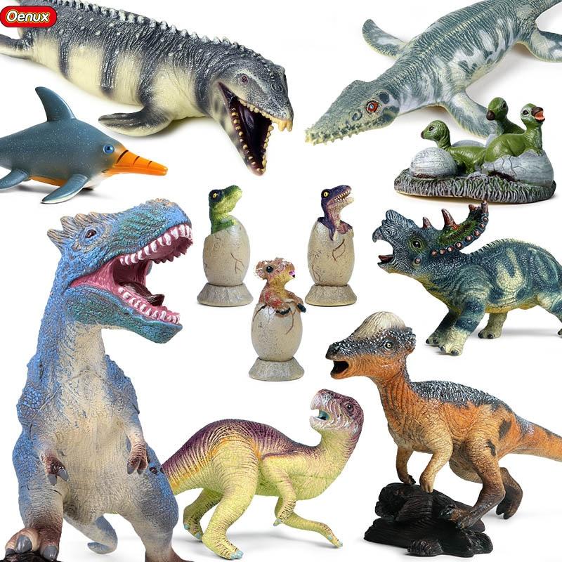 Oenux nuevo Savage Jurásico Carnotaurus t-rex figuras de acción vinilo PVC suave dinosaurio mundo de los animales modelo colección juguete chico regalo