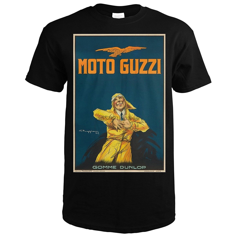 Moto Guzzi Vintage plakat (artysta Giorgio Muggiani) włochy c. 1917 (koszulka Premium)