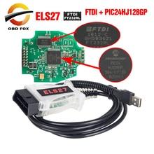 Сканер ELS27 FORScan OBD2 диагностический инструмент для протокола obd2 через 16 контактный разъем elm 327 FTDI + чип PIC24HJ128GP