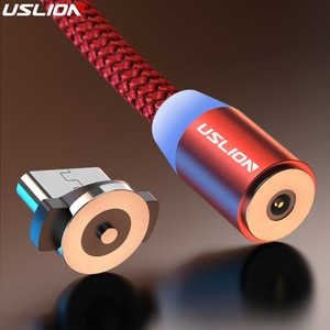 Кабель USLION для зарядки USB Type-A-USB Type-C/Micro USB/Lightning, 2.4A, магнитный, 0.5-3 метра