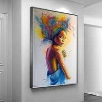 african graffiti art canvas painting abstract woman girl posters and prints wall pictures modern living room home decor cuadro