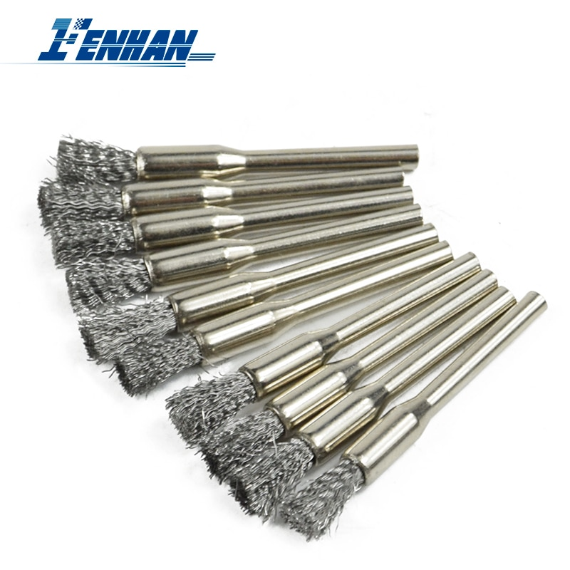 30pcs mini rotary stainless steel wire wheel wire brush small wire brushes set dremel accessories for mini drill rotary tools Polishing Brushes 10pcs/set 22mm Stainless Steel Wheel Brush for Dremel Mini Drill Rotary Tools Rotary Tool Accessories