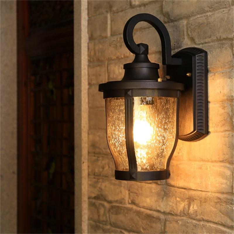 Hongcui Retro Outdoor Wall Sconces Lights Classical Loft LED Lamp Waterproof IP65 Decorative For Home Porch Villa enlarge
